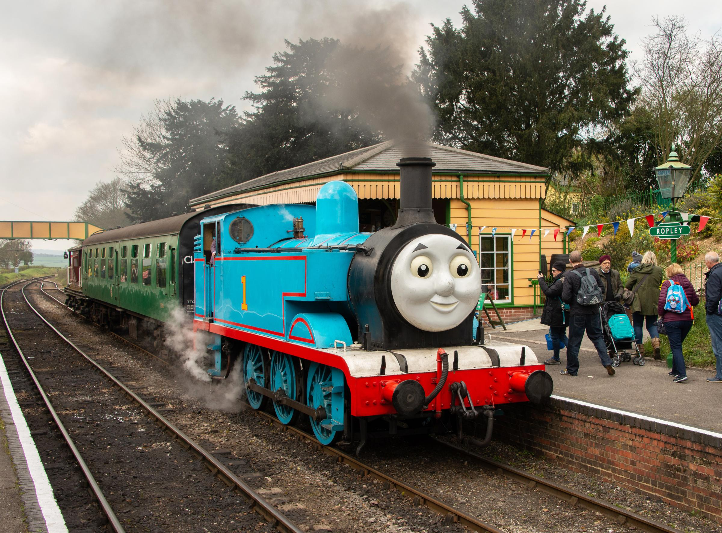 Thomas the Tank Engine steams onto Watercress Line