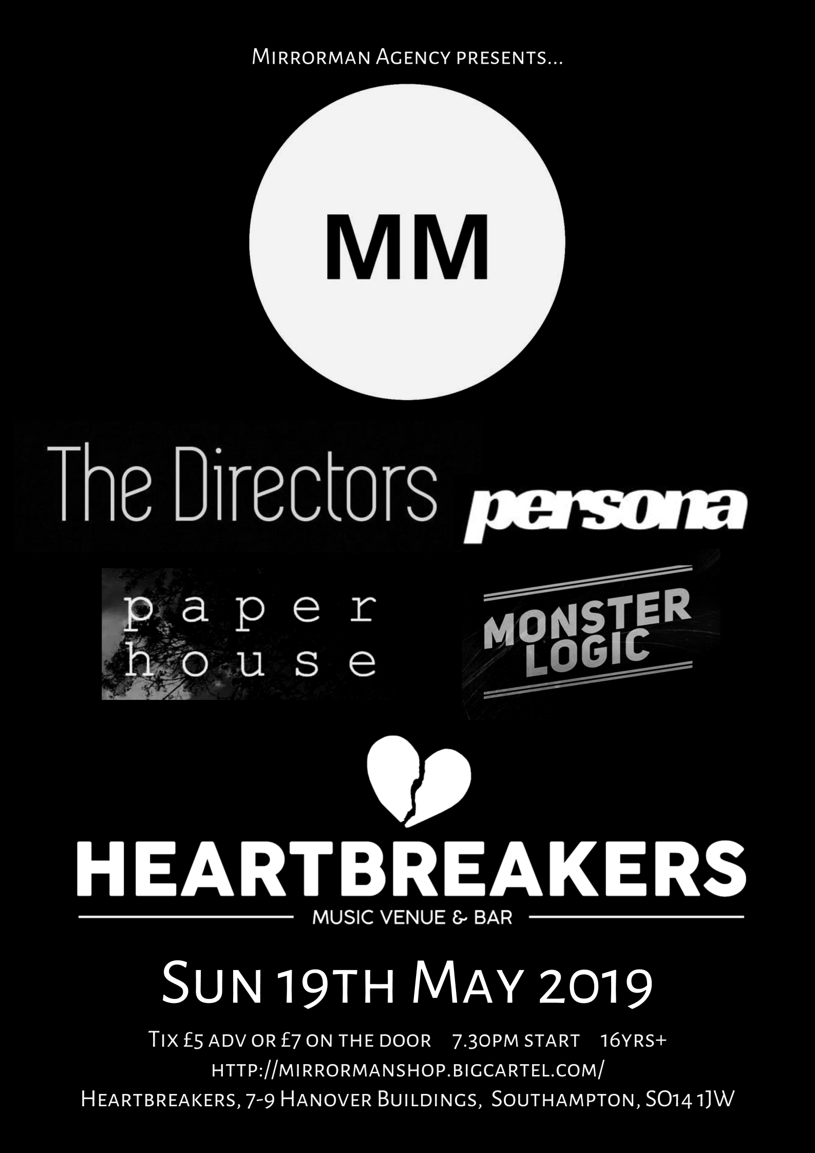 Mirrorman presents at Heartbreakers, Southampton (19.05.19)