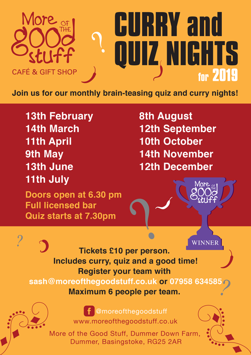 Monthly Quiz and Curry Night
