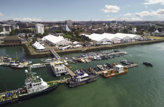 Seawork takes place at a specially built marina at Southampton's Mayflower Park
